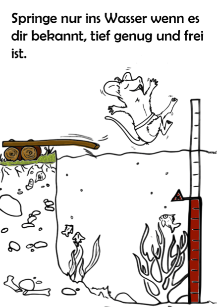 Baderegel Springen